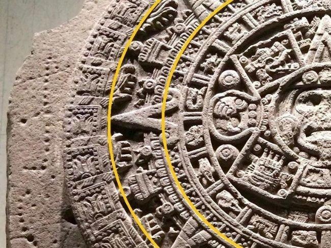 Piedra del Sol, quinto, sexto y séptimo círculos, los planetas