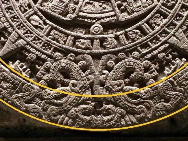 Piedra del Sol, octavo círculo, serpientes de fuego