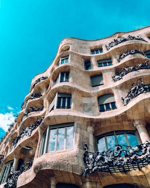 Casa Milà, de Antoni Gaudí en Barcelona
