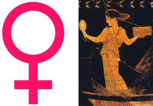 símbolo mujer