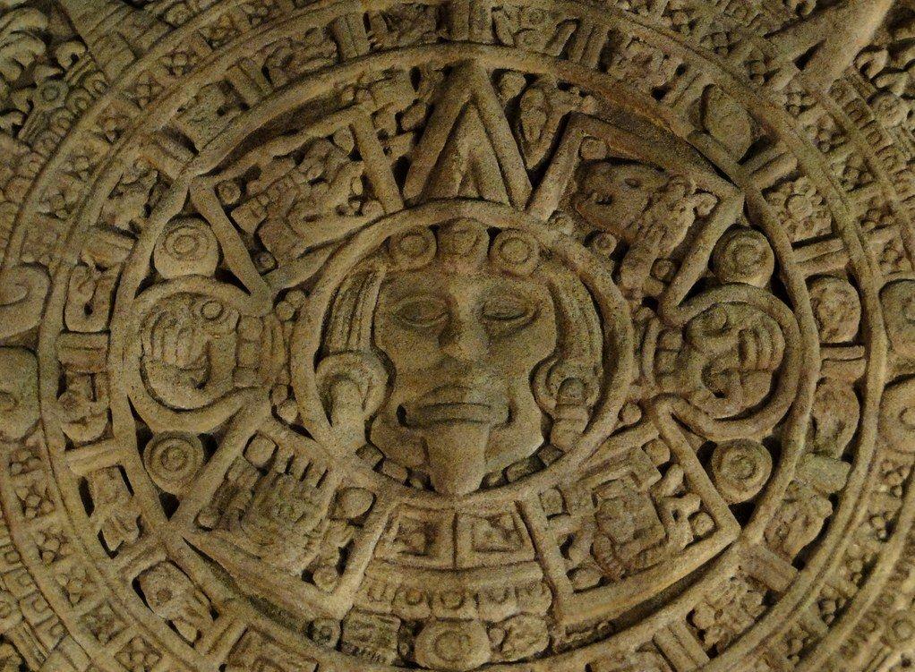 mandala, calendario azteca en el Museo de América, Madrid