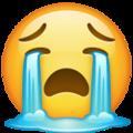 Cara llorando con intensidad-emoji