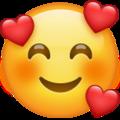 Cara sonriente con corazones-emoji