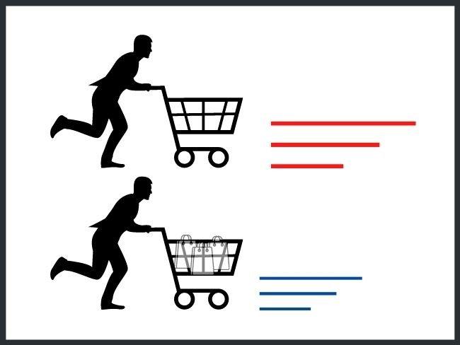 Segunda ley de Newton, ejemplo con carritos de supermercado