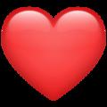 Emoji-corazón rojo