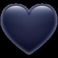 Emoji-corazón negro