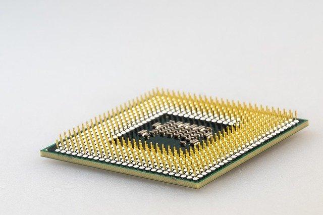 CPU, imagen macro de una unidad central de procesamiento