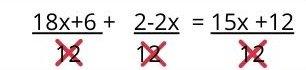 Ecuación de primer grado con fracciones y paréntesis