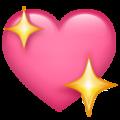 Emoji-corazón con estrellas