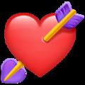 Emoji-corazón con flecha
