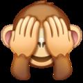 Emoji-mono no quiero verlo