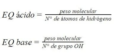 equivalentes químicos