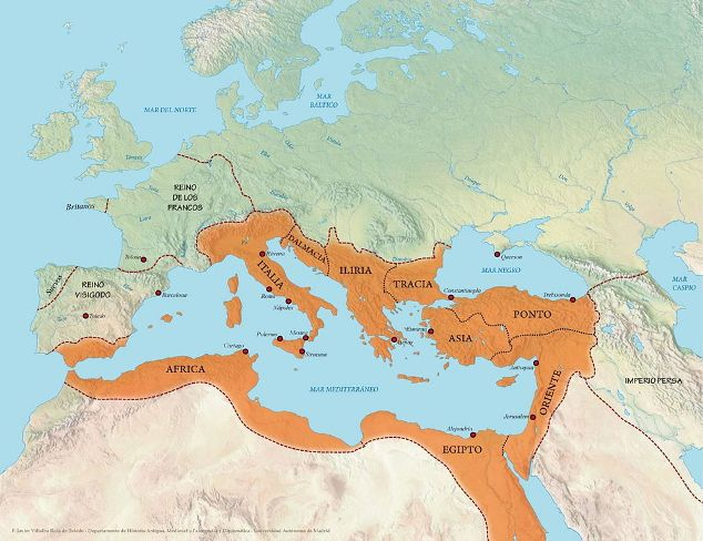 Imperio bizantino, imperio romano oriental
