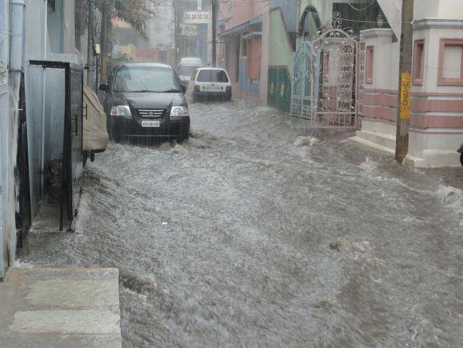 Inundaciones, inundación urbana