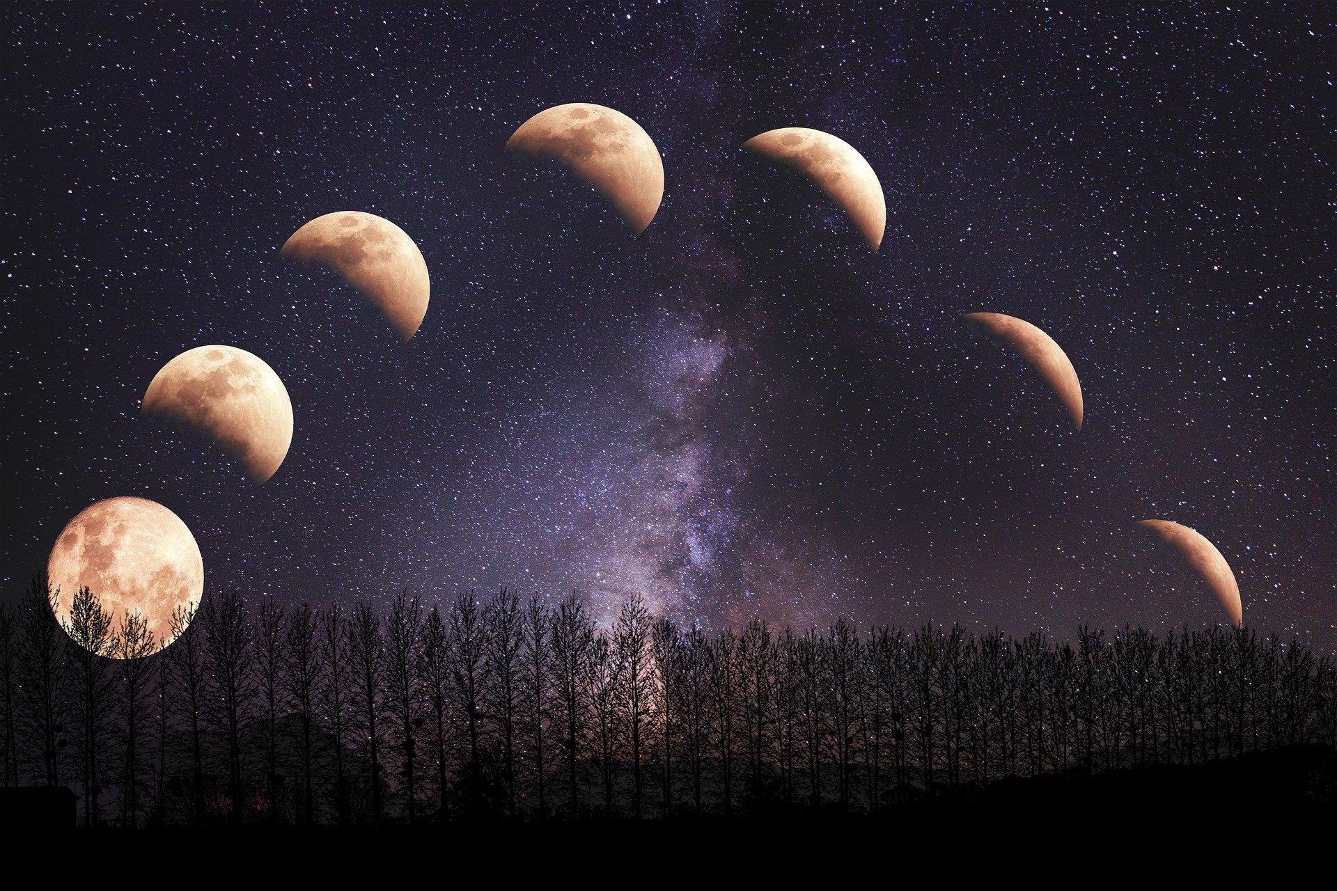 Fenómenosnaturales. Fases lunares