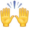Manos levantadas-emoji