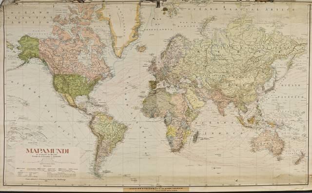 Planisferio, mapamundi de Mercator
