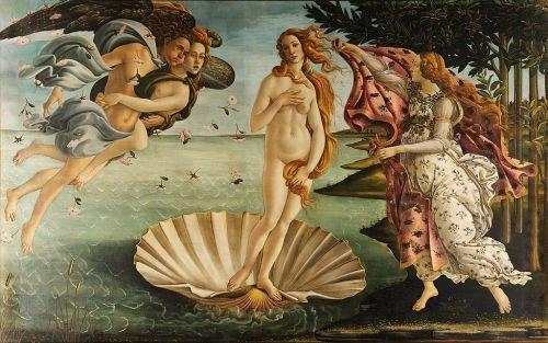 Pintura El nacimiento de Venus