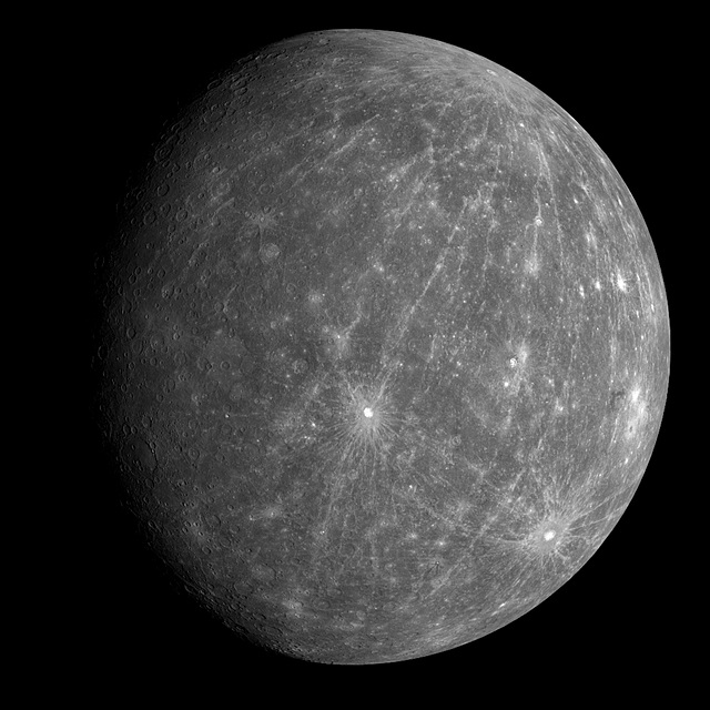 Planetas del sistema solar, planeta mercurio