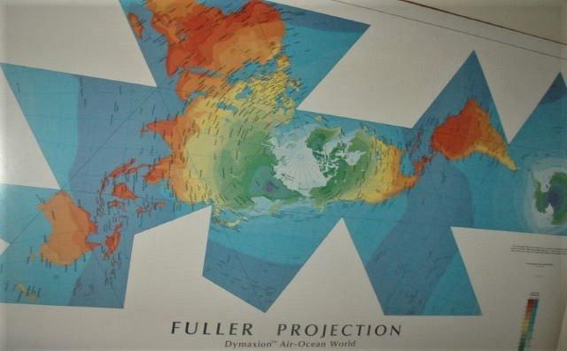 Planisferio, mapamundi de Fuller