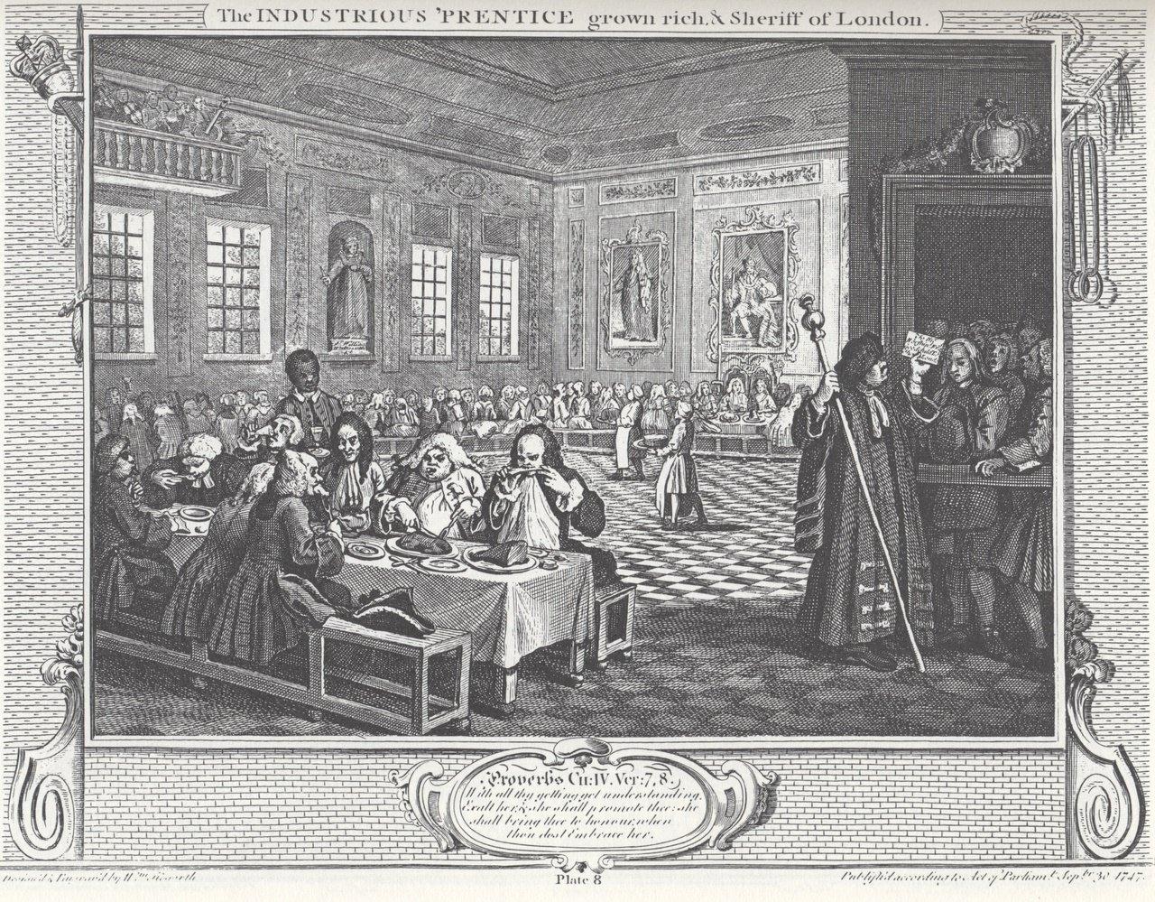 Revolución Industrial, grabado de William Hogarth