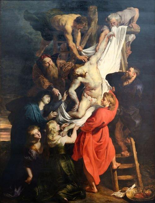 rubens descendimiento de cristo 1614